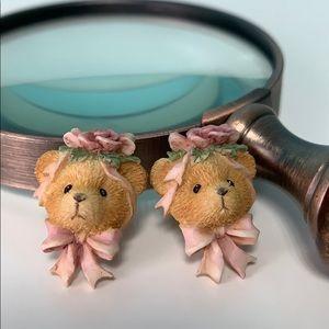 🎀 Eclectic Vintage Teddy Bear Earrings